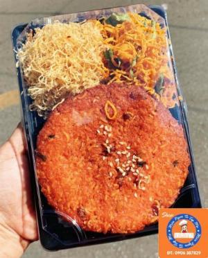 Hủ 300gr Bánh chao hạt dưa bí phủ khô gà, chà bông heo