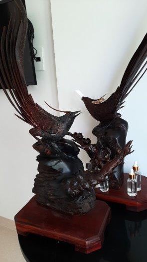Giao lưu nhanh hai bức Chim Trỹ gỗ trắc _ Mỹ nghệ Âu Lạc