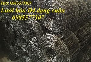 Lưới thép hàn D4 a 200 x 200, D4 a 100 x 100 giá tốt,hàng có sẵn tại Hà Nội