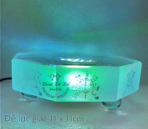 Đế Đèn Led Pha Lê,  Thủy Tinh Điện Đẹp USB 7003 ✨