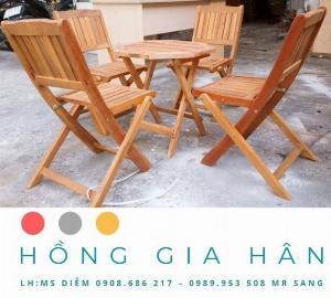 Bàn Ghế Cafe Hồng Gia Hân Bgg03 _ 1 Bàn 4 Ghế
