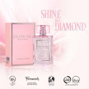 Nước hoa nữ Laura Anne Diamond Femme - Pink 45ml