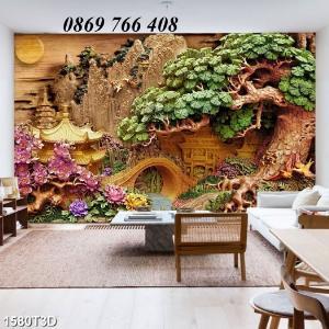Tranh dán tường-tranh phòng khách
