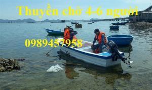 Thuyền gắn động cơ chở 6-8 người, Cano cho 6 người đăng kiểm