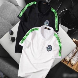 Áo thun nam cổ trụ cao cấp logo viền xanh lá