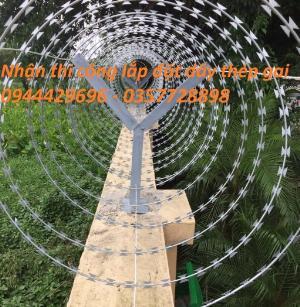 Thi công lắp đặt hàng rào dây thép gai