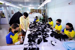 Khẩu trang vải Dony May gia công khẩu trang, xưởng, cơ sở may khẩu trang vải  in logo kháng khuẩn  giá rẻ