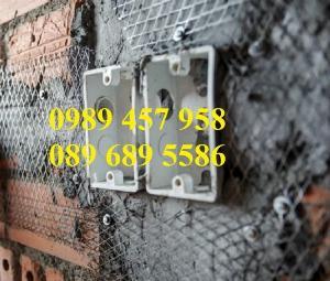 Lưới trát tường, Lưới mạ kẽm trát tường 5x5, 10x10, 15x15, 25x25, Lưới chống nứt tường