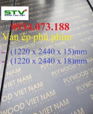 Kích thước cốp pha phủ phim (1220 x 2440) x  15mm 18mm