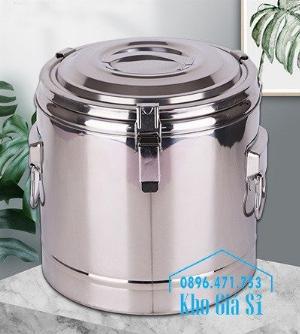 Bán thùng/ nồi inox cách nhiệt, giữ nhiệt đựng tàu hũ, cháo, soup cua tại Quận 11