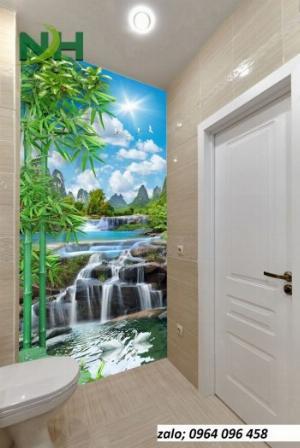 Gạch tranh 3d dán tường phòng tắm - 87QC