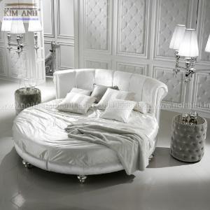 Mẫu giường tròn hiện đại, sang trọng được nhiều người ưu chuộng