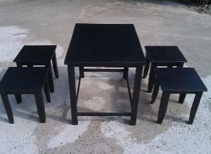 Cần thanh lý gấp 25 bộ bàn ghế quán cóc màu đen giá sỉ tại xưởng sản xuất anh khoa 4566