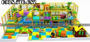 Thi công lắp đặt nhà liên hoàn trẻ em trong nhà