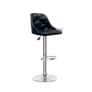 Ghế quầy bar CB2275-P lưng xoay 360 độ thân bọc simili màu đen bóng đẹp hiện đại nhập khẩu HCM