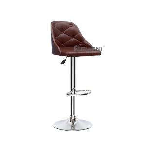 Ghế quầy bar CB2275-P lưng xoay 360 độ thân bọc simili màu nâu bóng đẹp hiện đại nhập khẩu HCM