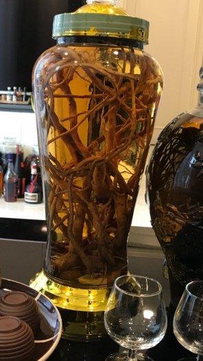 Đặc sản Đông Bắc rượu Đẳng Sâm ngâm rượu gạo làng lúa mới