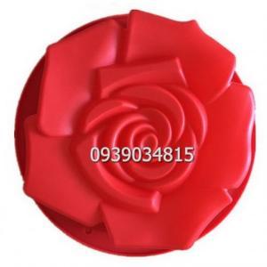 Khuôn silicon làm rau câu, làm bánh hoa hồng đại - Loại 30 cm