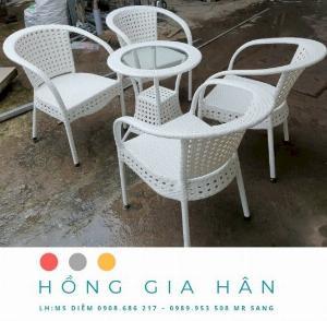 Bộ bàn ghế mây nhựa Hồng Gia Hân BGM29