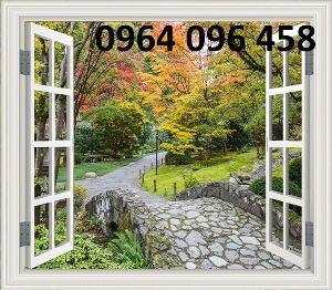 Tranh gạch men cửa sổ 3d - 45SM