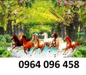 Tranh con ngựa - tranh gạch 3d con ngựa - 92KH