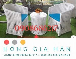 Bộ bàn ghế mây nhựa Bồng Gia Hân BGM40