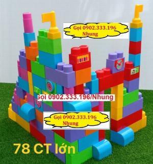 Bán xếp hình lego lớn, xếp hình khu vui chơi lớn
