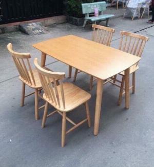 Bộ bàn ăn 4 ghế song tiện giá rẻ