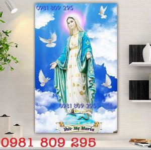 Tranh gạch men - tranh khổ dọc công giáo - Đức Mẹ Maria