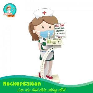 Mockup y tá khử khuẩn