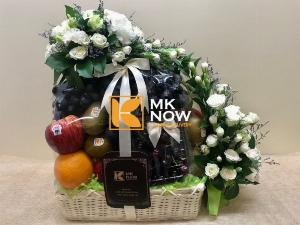 Giỏ hoa quả kính viếng lãnh đạo - FSNK255