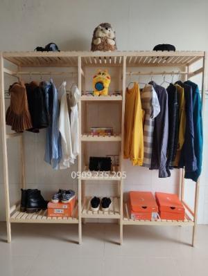 Tủ treo quần áo 3 gian giá rẻ, tủ treo size lớn