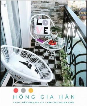 Bàn ghế mây nhựa Hồng Gia Hân BGM62