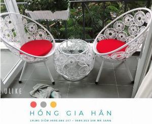 Bàn ghế mây nhựa Hồng Gia Hân BGM63