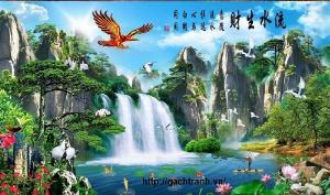 Tranh chim dại bàng - gạch tranh 3d chim đại bàng - XVC2
