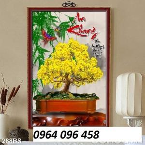 Tranh cây mai - tranh gạch 3d dán tường cây mai - QX33