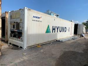 Container lạnh 40feet làm kho lạnh trữ đông