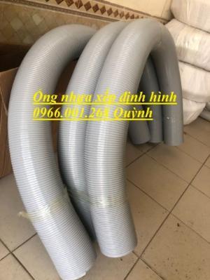 Ống nhựa định hình , ống nhựa xếp , ống nhựa nhún phi 100, cây dài 2m kéo giãn 2m8 , giá rẻ
