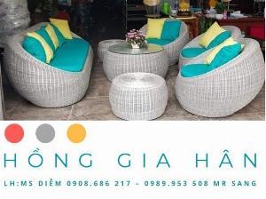 Bộ sofa mây nhựa Hồng Gia Hân BGM75