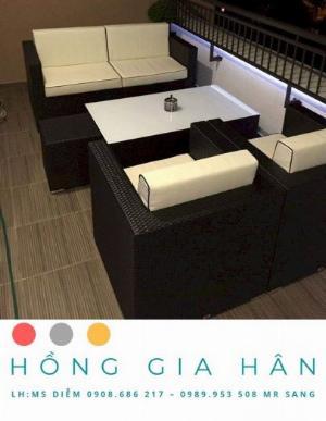Sofa mây nhựa Hồng Gia Hân SF14