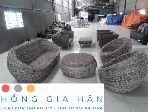 Sofa mây nhựa Hồng Gia Hân SF17