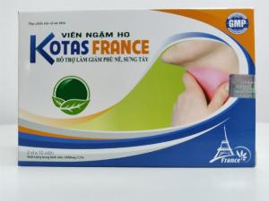 Viên ngậm giảm ho, viêm họng, phù nề, sưng tấy vùng mặt  - KOTAS FRANCE - Hộp 20 viên