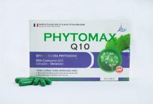 Viên uống giúp ngủ sâu giấc, tăng cường tuần hoàn máu não- PHYTOMAX Q10- Hộp 30 viên nang.
