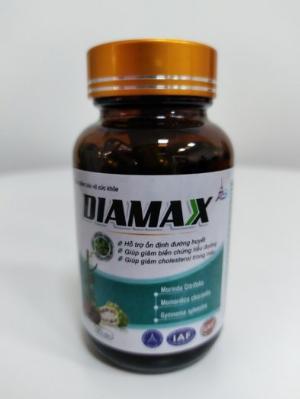 Hỗ trợ ổn định đường huyết và giảm mỡ trong máu- DIAMAX-  Lọ 60 viên.