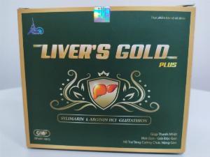 Viên uống hỗ trợ giải độc gan, mát gan hiệu quả - Liver Gold / hộp 60 viên