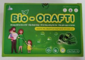 Cốm ăn bổ sung chất xơ, nhuận tràng, hỗ trợ tăng cường tiêu hóa- Bio Orafti - 20 gói/hộp