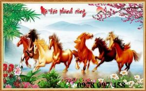 Tranh ngựa - tranh gạch men cao cấp