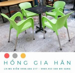Bàn ghế nhựa đúc Nữ Hoàng Hồng Gia Hân BGN25