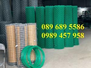 Lưới thép B40 bọc nhựa cho sân tennis, b40 bọc nhựa sân bóng đá mini, sân quần vợt