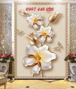 Gạch tranh 3d bình hoa HP6900